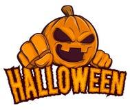 Halloween Jack Lantern Pumpkin Character Background. Vector stock of Halloween with jack lantern pumpkin background Stock Photo