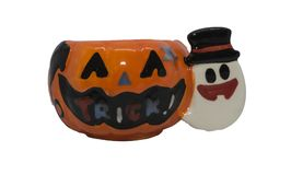 "halloween jack latern funny pumkin with text in mouth ""trick royalty free stock image"