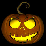 Halloween Jack O Lantern 05. A illustration of a spooky Halloween jack o lantern, isolated on a black background Royalty Free Stock Images