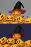 Halloween Jack O'Lantern Foto de Stock Royalty Free