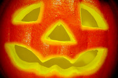 Halloween jack-o'-lantern Stock Photo