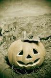 Halloween jack-o'-lantern Stock Photography