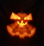 Halloween Jack O' Lantern. Jack O 'Lantern with interior light with stretched out eyes and mouth Stock Photography