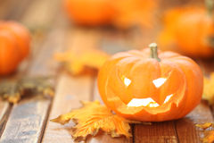 Halloween jack o' lantern background Royalty Free Stock Photo