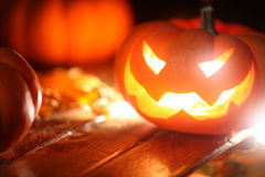 Halloween jack o' lantern background Stock Images