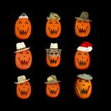 Halloween Jack O Lantern Collage Royalty Free Stock Photo