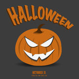 Halloween Jack o Lantern Design Royalty Free Stock Images