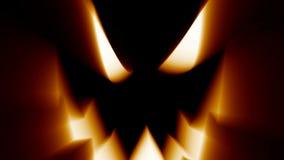 Halloween jack-o-lantern evil spooky scary horror face. Halloween celebration pumpkin jack-o-lantern evil spooky scary horror glowing face stock illustration