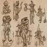 Halloween, Jack o Lantern - An hand drawn vector pack Royalty Free Stock Photo
