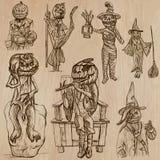 Halloween, Jack o Lantern - An hand drawn vector pack Royalty Free Stock Photo