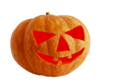 Halloween jack o lantern lighted inside Royalty Free Stock Photos