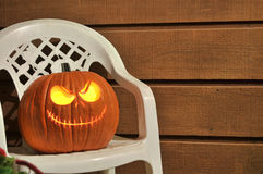 Halloween Jack-O-Lantern Pumpkin Stock Photography