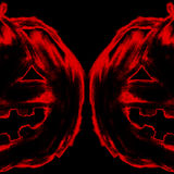 Halloween jack-o-lantern pumpkin head chalk charcoal pencil Stock Photography