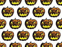 Halloween jack-o-lantern pumpkin head and trick or treat text Royalty Free Stock Photography