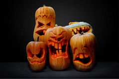 Halloween Jack-o-Lantern Pumpkins Royalty Free Stock Photo