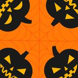 Halloween Jack-o`-Lantern pumpkins Stock Photos