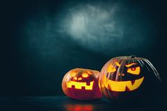 Halloween Jack O` Lantern pumpkins Royalty Free Stock Photography