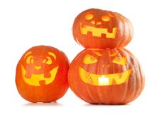 Halloween Jack O` Lantern pumpkins Royalty Free Stock Photo