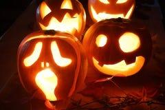 Halloween Jack-o-Lantern Pumpkins Royalty Free Stock Photography