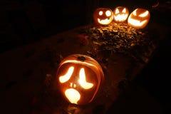 Halloween Jack-o-Lantern Pumpkins Royalty Free Stock Photos