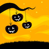 Halloween Jack O'Lantern Tree background Stock Images