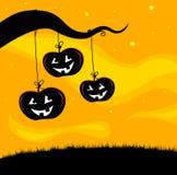 Halloween Jack O'Lantern Tree background Stock Images