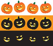Halloween Jack-O-Lanterns. A collection of fun and spooky Jack-O-Lanterns for a variety of Halloween uses Royalty Free Stock Image