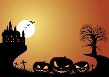Halloween & Jack O Lanterns Background Stock Images
