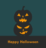 Halloween Jack o' lanterns Stock Photos