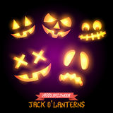 Halloween Jack O Lanterns Royalty Free Stock Photography