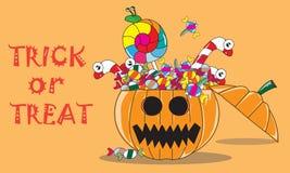 Halloween Jack O' Linterna con truco o la invitación Fotografía de archivo