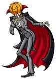 Halloween Jack Pumpkin Head le prince de l'obscurité Photographie stock libre de droits