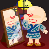 Halloween Japanese Boy Royalty Free Stock Photo