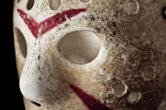 Halloween jason mask. On black background Royalty Free Stock Image