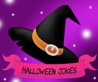 Halloween Jokes Means Trick Or Treat And Autumn Royalty Free Stock Image