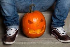 Halloween-Kürbis Stockfotografie