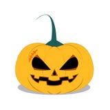 Halloween-Kürbis auf weißem Hintergrund Lizenzfreie Stockbilder