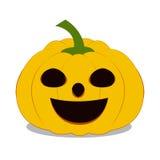 Halloween-Kürbis auf weißem Hintergrund Stockfotografie