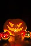 Halloween-Kürbis black4 Lizenzfreies Stockfoto