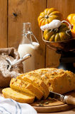Halloween-Kürbis-Brot Lizenzfreie Stockfotografie