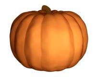 Halloween-Kürbis 3d übertragen lokalisiert Stockfotografie