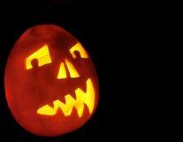 Halloween-Kürbis in der Schwärzung Lizenzfreie Stockbilder