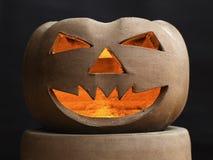 Halloween-Kürbis gebildet vom Lehm Lizenzfreie Stockfotos