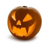 Halloween-Kürbis, getrennt Stockfotografie