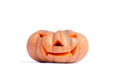 Halloween-Kürbis getrennt auf weißem Hintergrund Lizenzfreie Stockfotografie