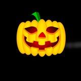 Halloween-Kürbis getrennt auf weißem Hintergrund Stockfotografie