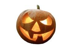 Halloween-Kürbis getrennt auf weißem Hintergrund Feierlicher Hintergrund für heloluin stockfoto
