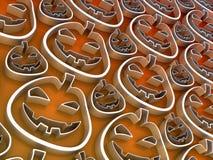 Halloween-Kürbis-Hintergrund Lizenzfreie Abbildung