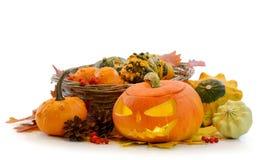 Halloween-Kürbis Jack O'Lantern Stockfoto