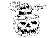 Halloween-Kürbis mit Gesicht Lizenzfreie Stockfotografie